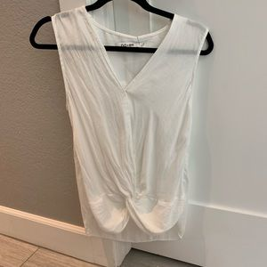 Tops - Do + Be white sleeveless front knot top M